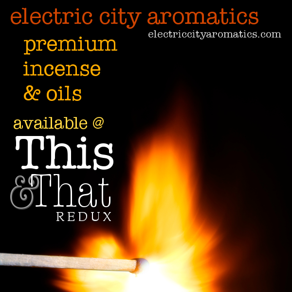 Electric City Aromatics Incense and oils now available.